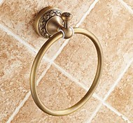 "Towel Ring Antique Brass Wall Mounted 182x 75x 66mm (7.16 x 2.95x 2.59"") Brass Traditional"