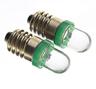 E10 0.2W 10-15Lm 1-Led Car Bulbs-Green(12V)