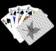 Presente personalizado das folhas de bordo padrão cinzento do cartão de jogo para Poker