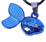 Z&X®  Fashion (Goldfish Pendant) Blue Alloy With Clear Rhinestone Pendant Necklace (1 Pc)