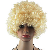 Black Afro Wig Fans Bulkness Cosplay Christmas Halloween Wig Cream-coloured Wig 1pc/lot
