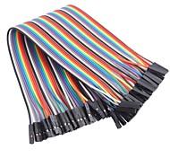 femme de ruban de couleur femelle câble plat cavalier dupont 40 fils 1p-1p 2,54 mm (pour la Arduino) (20cm)