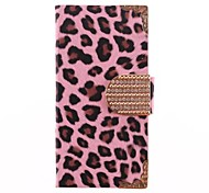 Leopard Print PU Leather Full Body Case for iPhone 5C(Assorted Colors)