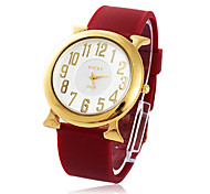 Women's  Water-Resistant Silicon Band Quartz Dress Watch