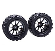 HSP Wheels Rims and Tires for Off Road 1:10 Truck (2 pcs)