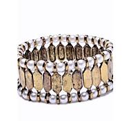 Metal Bar With Pearl Elastic Bracelet