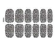 2014 Most Popular Hot Lady Sexy Leopard Nail Art Tips Sticker Decals Decoration 3D Foil