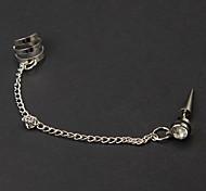 Catena europea con il cerchio d'argento orecchini della lega clip (1 Pc)