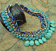 Z&X®  Fashion Crystal (Collar) Multicolor Alloy Pendant Necklace (1 Pc)