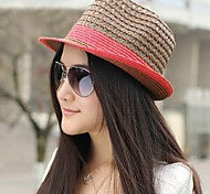 Women Cotton Fedora Hat , Casual All Seasons