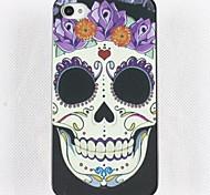 Smiling Face Skull Hard Glue Edge Grinding Case for iPhone 4/4S