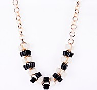 Resin Beads Plaited Necklace