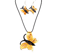 Fashion Butterfly Translucent Acrylic (Necklaces&Earrings) Crystal Jewelry Sets