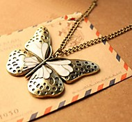 Women Vintage Butterfly Pendant Necklace