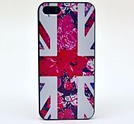 UK Flag Flower Pattern Hard Case for iPhone 5/5S