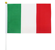 5PCS Italy National Flag Hand Signal Flag Brazil World Cup Fans Cheer Prop(21x30cm)