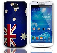 Vintage The Australian Flag Design Hard Case with 3-Pack Screen Protectors for Samsung Galaxy S4 I9500