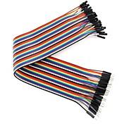 hombre a mujer (para arduino) cables dupont (40 piezas / paquete de 30 cm de longitud)