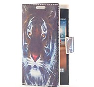 Tiger Head Leather Case with Card Slot and Stand for LG L5/E610/E612