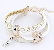 Women's Fashion Bracelet Leather/Acrylic