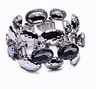 Stone Set Metal Bracelet