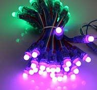 GOESWELL™ LED Pixel String Light 50Pcs/String 12mm WS2801 DC5V RGB Color for Channel Letter Christmas Tree