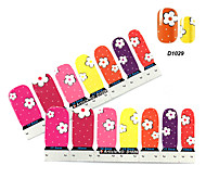4x7PCS Coreopsis Cartoon Motif Nail Art Stickers