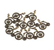Weinlese-Fahrrad-Legierungs-Charme Bronze 10 Stück / Beutel