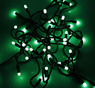 Waterproof 5M 3W 50-LED Green Light LED Strip Light (110V)