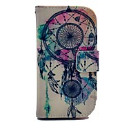 Feather Windbell Pattern PU Leather Case with Card Slot and Stand for Samsung Galaxy S3 mini I8190