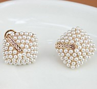 Pearl Diamond Stud Earrings