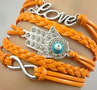 Shixin® European Eight Palm Love 20cm Women's Alloy Wrap Bracelet(1 Pc)