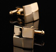 XINCLUBNA®	Fashionable Men's Gold Copper Square Cufflink (Gold)(1pair)