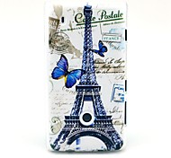 Butterfly and Eiffel Tower Pattern Hard Case for Nokia Lumia N520