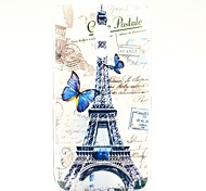 Beautiful Butterfly and Eiffel Tower Pattern Plastic Hard Case for Motorala Moto G