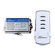 DIY SQ-082 DIY AC 220-240V 2-Channel Multi-Function Wireless Remote Switch with Controller