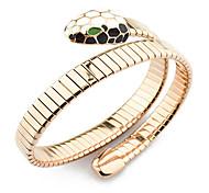 rosa serpente braccialetto d'oro