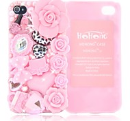 HOHONG (TM) Bling Cutie blühende Blumen Case für iPhone 4 / 4S