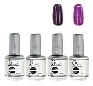 4PCS CH Silver Bottle Soak-off UV Gel Set Top Coat+Base Gel+2 UV Color Builder Gel(No.113-114,15ml)