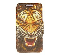 Kinston® Tiger Head Pattern PU Leather Full Body Case with Stand for Nokia Lumia 630/635