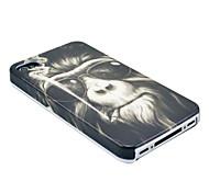 Smoking Monkey Pattern Hard Case for  iPhone 4/4S