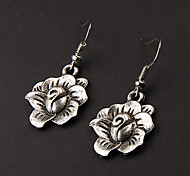 Cute Blossom Silver Alloy Earrings(1 Pair)
