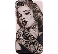 Marilyn Monroe Tattoo PC Hard Case voor iPhone 4/4S