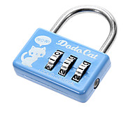 Cute Travel Portable Password Lock Silver Stainless Steel Keychain(1 Pc)
