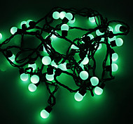 Waterproof 5M 3W 50-LED Green Light Ball Shaped LED Strip Light (110V)