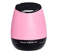 K8 drahtlose Bluetooth 2.1 Speaker TF / USB / AUX Speake - Pink