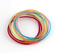 Multi-circle  Combination Flexible Pattern Colorful Bracelet (10pcs)