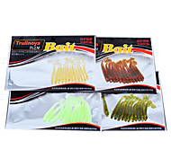 12 pcs Soft Bait / Lure kits / Fishing Lures Lure Packs / Soft BaitGreen / Yellow / Others / Assorted Colors / Transparent / Red / Random