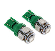 5SMD 5050LED Green Light Bulb for Motorcycle Brake/Turning Signal Lamps (1.2W,2-Pack, DC12-16V)