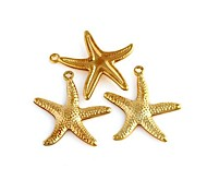 Woman's Starfish Pattern Metallic Pendant (10pcs)